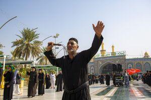 عکس/ عزاداری شهادت امام حسن عسکری(ع) در کربلا