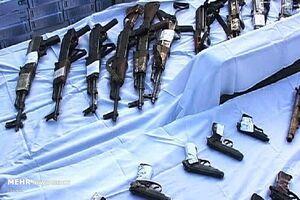 کشف ۵۳ قبضه اسلحه در نوار مرزی سرپلذهاب