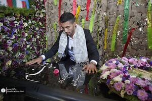 عکس/ اهدای مدال طلای گرایی به شهید گمنام