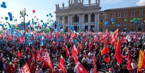 تظاهرات هزاران ایتالیایی در اعتراض به قدرت گرفتن فاشیستها
