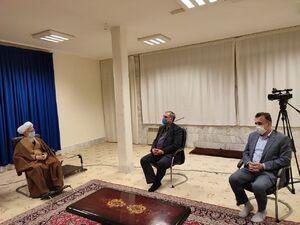 عکس/ دیدار وزیر بهداشت با آیت الله جوادی آملی