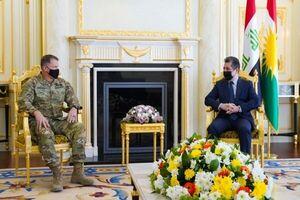 رایزنی بارزانی با ژنرال آمریکایی