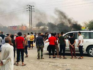 موج گسترده اعتراضات مردمی علیه نتایج اعلام شده انتخابات مجلس عراق/ شایعاتی از مداخلات کشورهای خارجی برای مهندسی آراء / سخنگوی حزب الله عراق خواستار محاکمه الکاظمی شد +فیلم و تصاویر