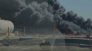 آتشسوزی گسترده در پالایشگاه نفت کویت +فیلم