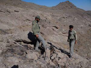 تخریب کمینگاه شکارچیان غیرمجاز در منطقه شکار ممنوع کهک +عکس