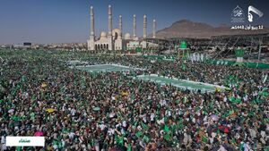 عکس/ جشن میلیونی میلاد پیامبر در یمن