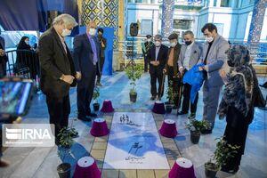 عکس/ رونمایی از سنگ مزار جدید سهراب سپهری