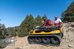 عکس/ مانور نجات در مناطق صعبالعبور