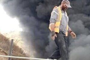 مهار آتشسوزی مهیب در کارخانه قیر +فیلم