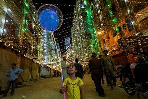 عکس/ چراغانی کراچی به مناسبت میلاد پیامبر(ص)