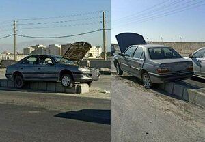 عکس/ پیدا شدن خودرو سرقتی در وضعیت عجیب