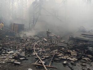 آتشسوزی در کارخانه مواد شیمیایی روسیه با ۱۶ کشته +عکس
