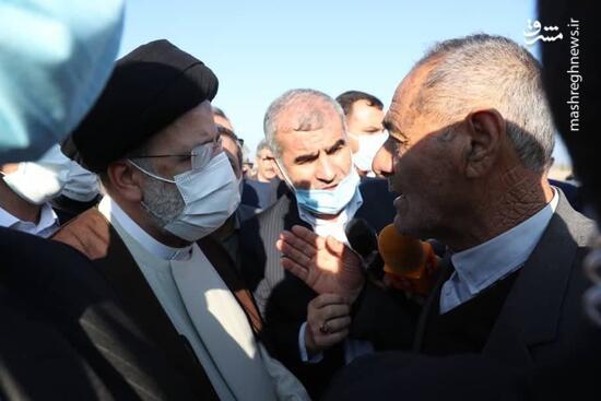 عکس/ صحبت بیواسطه مردم اردبیل با رئیسی