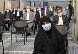 عکس/ حضور زینب سلیمانی در حسینیه امام خمینی(ره)
