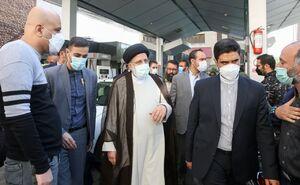 عکس/ حضور رئیسی در جایگاه سوخت میدان فردوسی