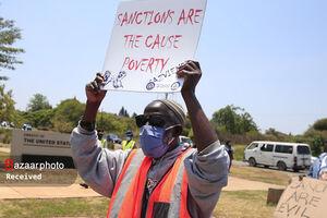 عکس/ تظاهرات ضد آمریکایی در زیمبابوه