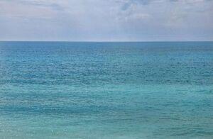 عکس/ تلاقی دریا و آسمان در هرمزگان