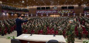 عکس/ بازدید بشار اسد از دانشکده نظامی دمشق