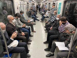 تصویری جالب از مترو تهران