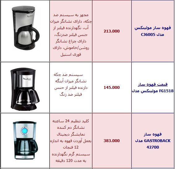 قیمت قهوه جوش عربی