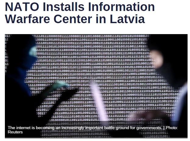ناتو مرکز جنگ اطلاعاتی در لتونی برپا می کند