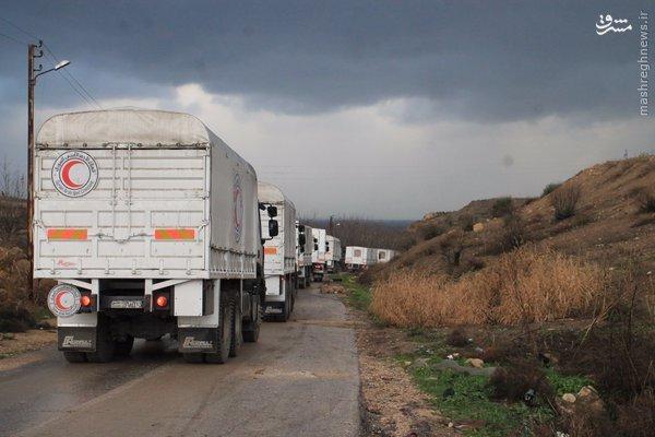 ارسال تدارکات غذایی برای تروریستهای مضایا+تصاویر