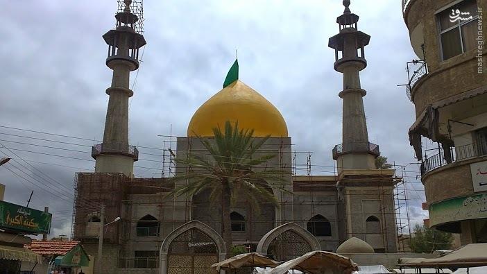 حرم منهدم شده حضرت سکینه (س) در دمشق+تصویر