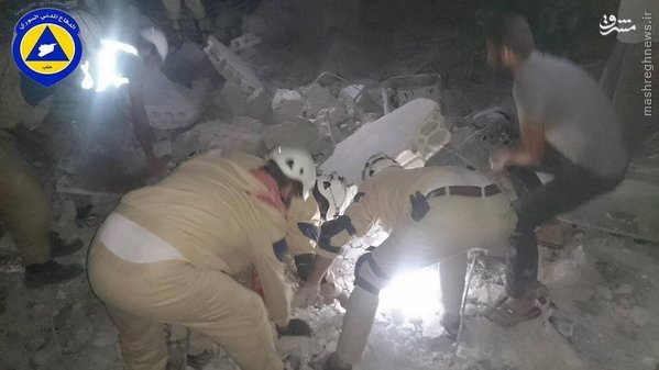کشتار غیر نظامیان در حمله هوایی آمریکا به حلب+تصاویر