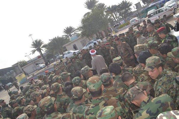 حضور مفتی اهل سنت عراق در جمع رزمندگان حشدالشعبی+تصاویر