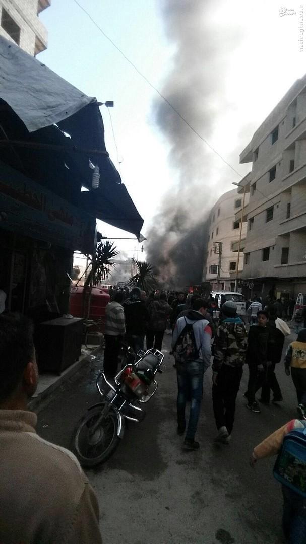 المیادین: ۱۲ شهید و ۴۰ زخمی؛ ماحصل اولیه دو انفجار تروریستی در زینبیه دمشق +عکس و فیلم