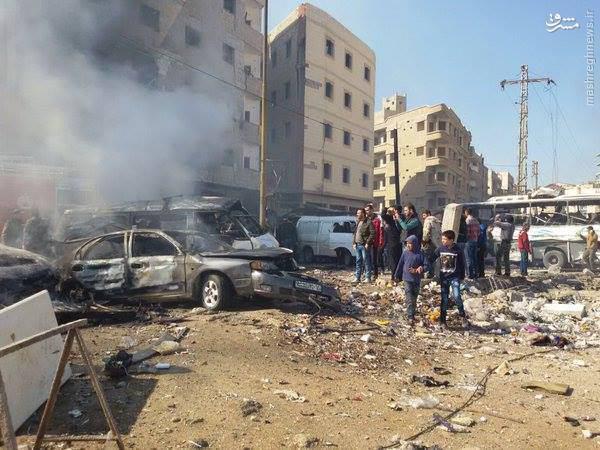 ۱۲ شهید و ۴۰ زخمی؛ ماحصل اولیه دو انفجار تروریستی در زینبیه دمشق +عکس و فیلم