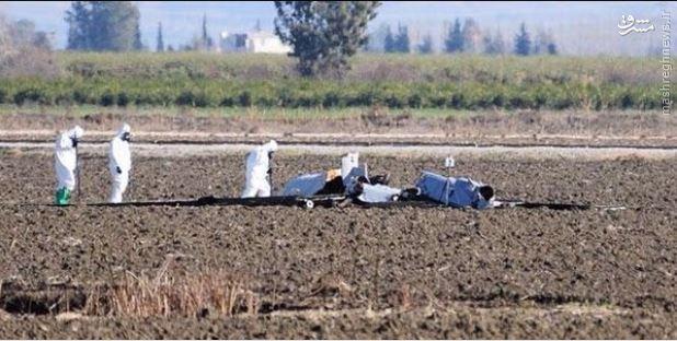 سقوط پهپاد آمریکایی در جنوب ترکیه +عکس