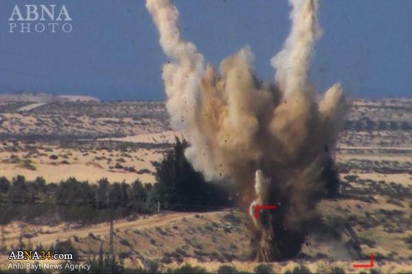 انهدام خودروی زرهی ارتش مصر توسط داعش + عکس