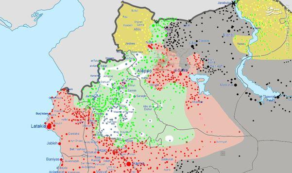 بررسی عملیاتهای نظامی ارتش سوریه و نیروی هوایی روسیه در سوریه +نقشه