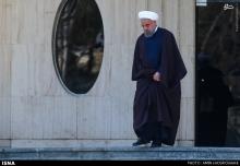 عکس/ حاشیههای جلسه هیات دولت با حضور روحانی در جمع خبرنگاران