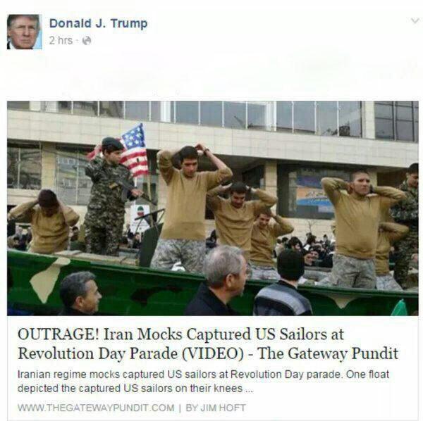 ترامپ: ایرانی ها ما را به تمسخر گرفتند + عکس