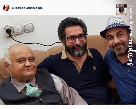 عکس/ رضا عطاران و اکبر عبدی در یک قاب