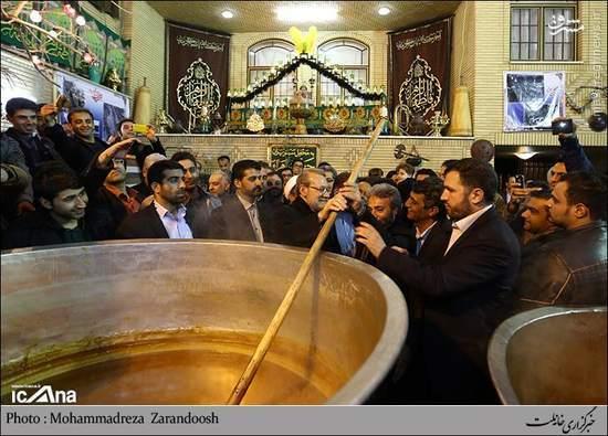 عکس/ علی لاریجانی در مراسم سمنوپزی