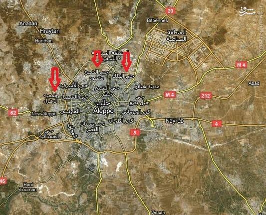 خیز ارتش سوریه و کُردها برای آزادی اعزاز/ورود به آخرین پایگاه تروریسم در ریف لاذقیه/تحرکات صهیونیستی در جنوب سوریه + نقشه و عکس و فیلم