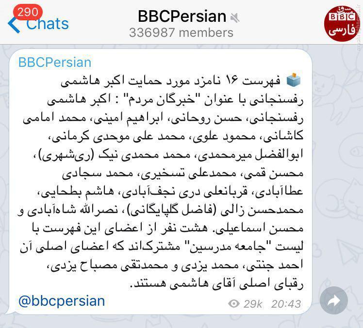 تشکیل ستاد تخریب برعلیه زاکانی و حداد/ خطای فاحش در فهرست ۳۰ نفره اصلاح طلبان/ پروژه دخالت BBC در انتخابات از کجا آب میخورد؟