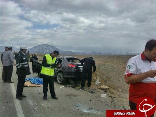 دبیرخبر شبکهخبر درحادثه رانندگی جانسپرد+عکس