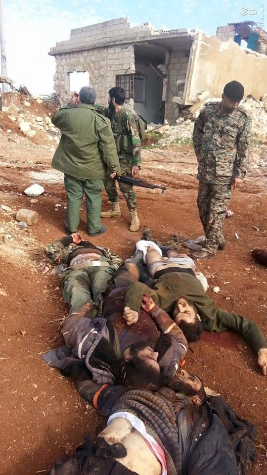تلفات تروریستها در نبرد با مدافعان حرم در حلب+تصاویر