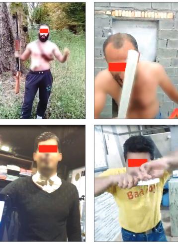 انتشار كليپهاي تهديدآميز در شرق مازندران +عکس