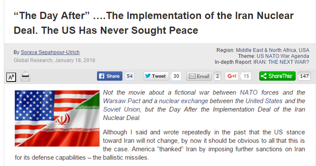 آمریکا جایزه صداقت ایران در برجام را با «تحریم موشکی» داد /// آماده