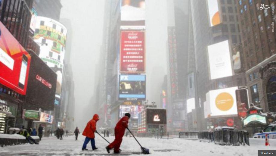 سرمای بیسابقه از از نیویورک