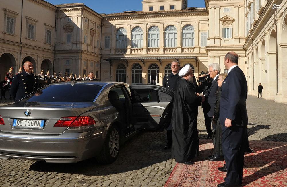 عکس/ ماشین روحانی در ایتالیا