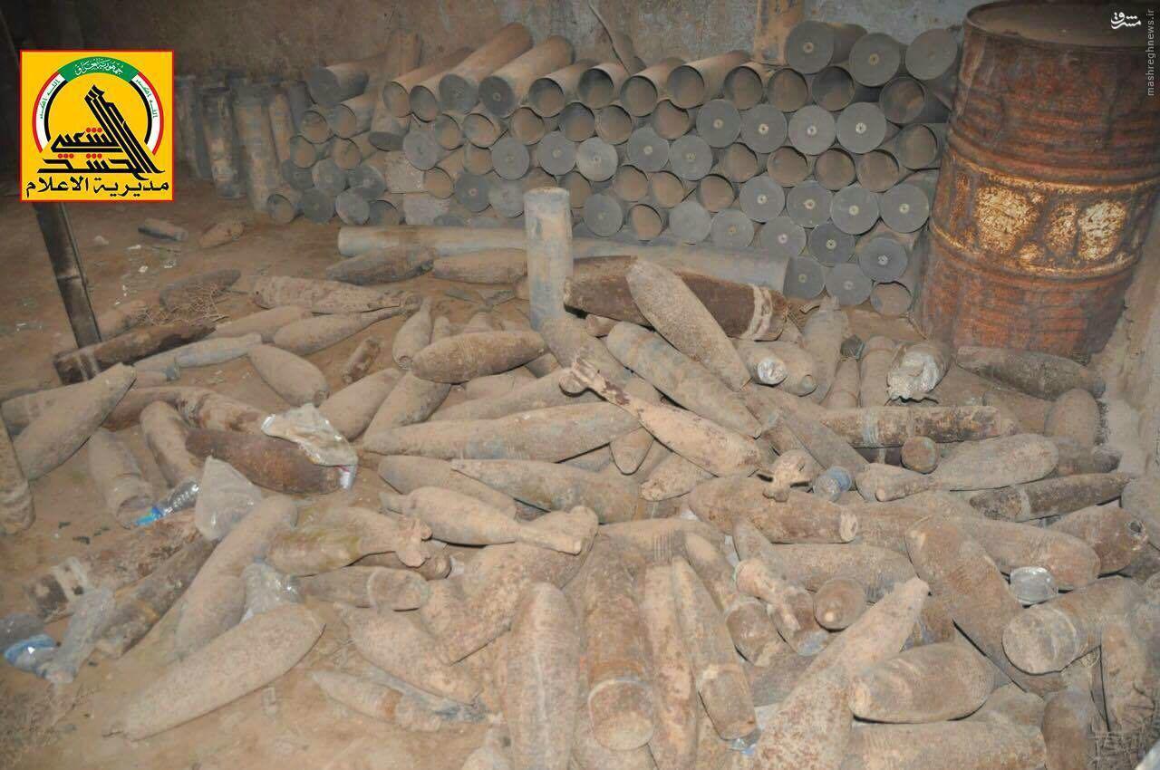 کشف کارگاه تولید تسلیحات داعش در عراق+تصاویر