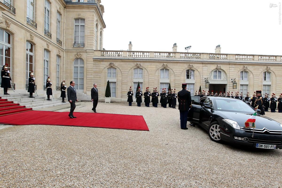 عکس/ روحانی با چه ماشینی به کاخ الیزه رفت؟