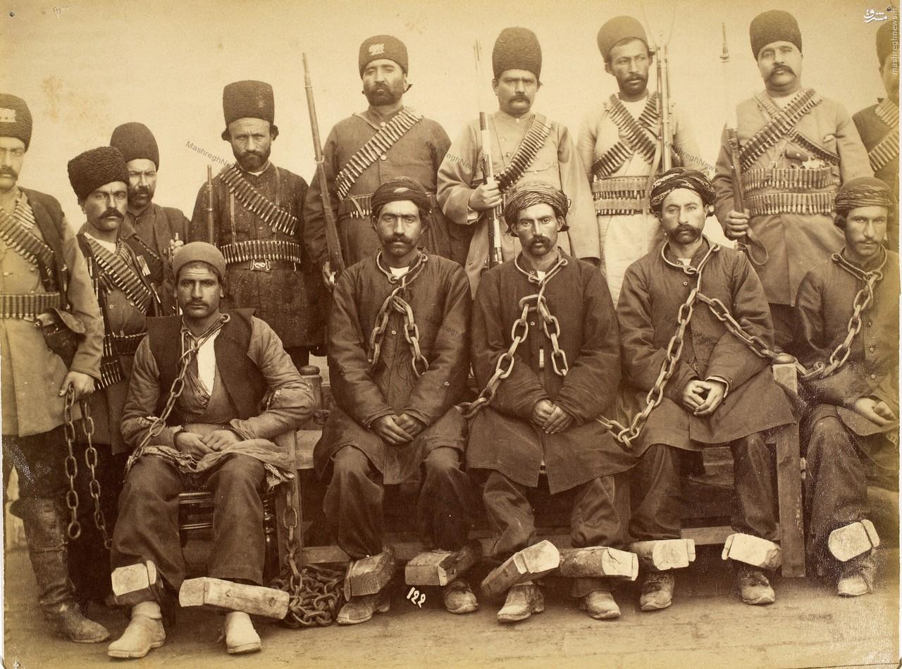 عکس/ زندانی و زندانبان در دوره قاجار