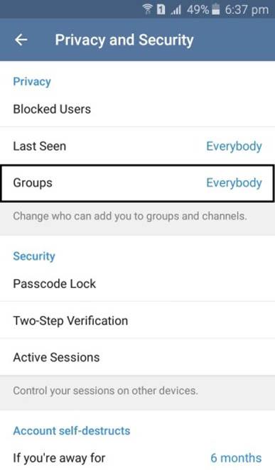ترفند جلوگیری از دعوت بی اجازه به کانال و گروه های تبلیغاتی تلگرام + آموزش